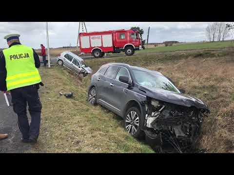 Wideo: Wypadek dwóch pojazdów w Rudnej