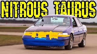 FAST Ford Taurus - Nitrous V6?! by 1320Video