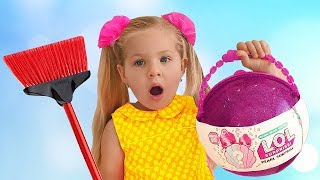 Диана и огромный ЛОЛ Diana found LOL Pearl Surprise, Pretend Play toy for kids