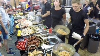 Video Many Woks Cooking Fish and Noodles. Kiev Street Food, Ukraine MP3, 3GP, MP4, WEBM, AVI, FLV Februari 2019