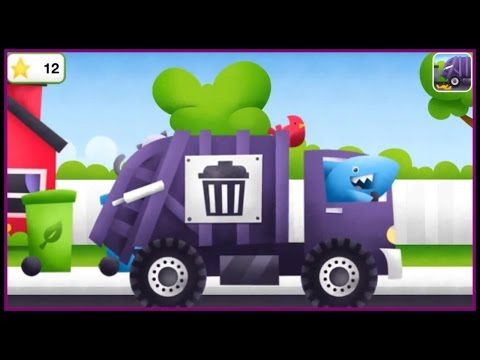 TRUCKS! Kids 3D Puzzles: GARBAGE TRUCKS Build & Play ipad App Demo /Дети построить