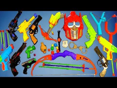 Коробка игрушек Игрушечные пушки Военные игрушки Детские игрушки ВИДЕО ДЛЯ ДЕТЕЙ ГУНС БОКс Тоис