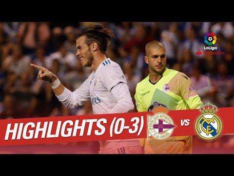 Resumen de RC Deportivo vs Real Madrid (0-3) (видео)