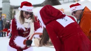 Samnaun Switzerland  city photo : ClauWau Santa Claus Championships 2016 in Samnaun, Switzerland