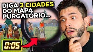 RESPONDA EM 5 SEGUNDOS!!! DESAFIO DAS PERGUNTAS SOBRE FREE FIRE!!!