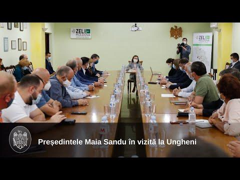 Президент Майя Санду совершила рабочий визит в район Унгень