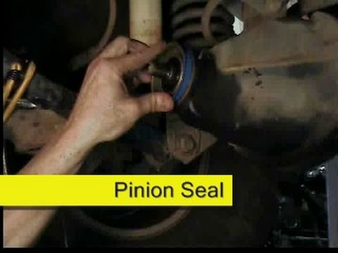differential pinion seal replacement, Jeep Wrangler TJ, DIY