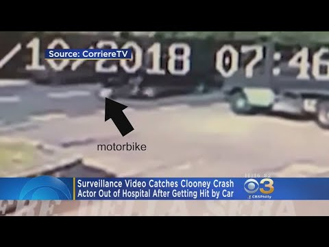 Surveillance Video Captures George Clooney Crash