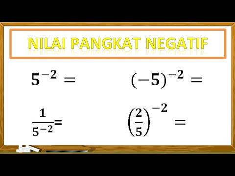 Cara Menghitung Nilai Pangkat Negatif
