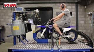 3. Yamaha YZ65 2018 Dyno test with VHM cylinder head full