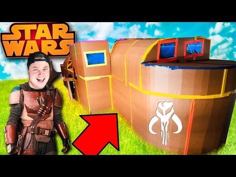 We Built Star Wars The Mandalorian Ship Box Fort Challenge