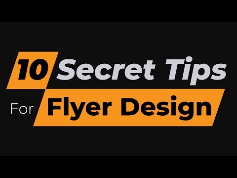 10 Secret Flyer Design Tips for Beginners | Make Flyers Effective and Professional | #MH