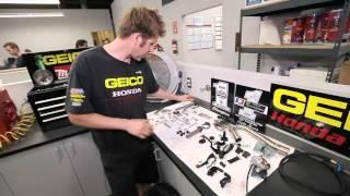 9. Prepping the GEICO Honda CRF250R