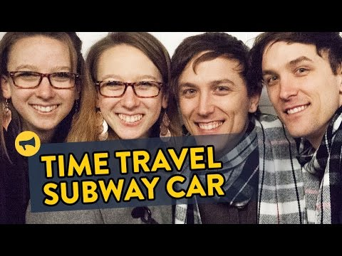 Twins Prank People On Train With Time Travel Gag