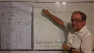 Algebra Intermedia - Lección 37 - A (resolviendo Ecuaciones Cuadráticas Por La Fórmula Cuadrática)