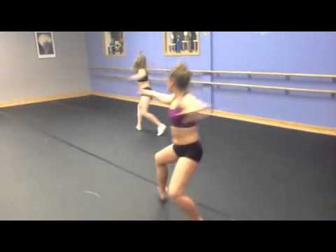 Footworks Dance Company! Megan and Paige's aerials!