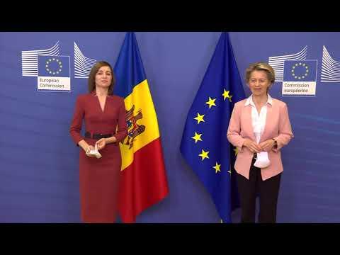 Președintele Republicii Moldova, Maia Sandu, a avut o întrevedere cu Ursula von der Leyen, Președinta Comisiei Europene