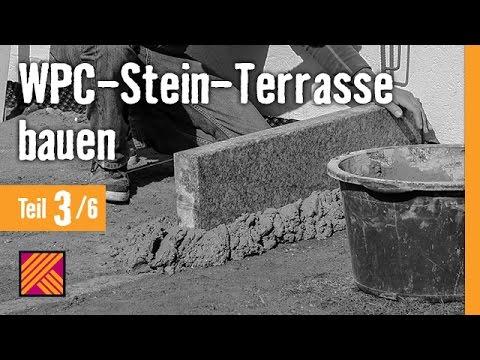 Version 2013 WPC-Stein-Terrasse bauen - Kapitel 3 : Randsteine setzen |