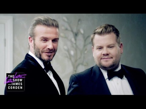 James Corden and Soccer Legend David Beckham Battle to Become the Next James