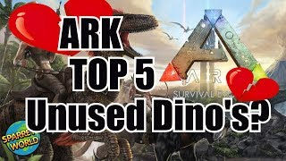 Evening AllWelcome to SparreysWorld! Today we are looking at my top 5 Ark Least used Dino's! now i know alot of you will use these dinos and i'm sure you will tell me about it but as a whole these things tend to sit in peoples bases instead of being used for what they were intended. As Always let me know your thoughts in the comments down below. I would lie to say a massive thank you to everyone for the support its amazing - truly!Don't forget to check out the below links!Thanks guysHave fun!Check out my brand new discord - https://discord.gg/xvn9Fq9------------------------------------------------------------Creative Misfits Channels:North- https://goo.gl/jvAW33  Cody- https://goo.gl/aoQWdW  Casun- https://goo.gl/qvKyly  Dralance- https://goo.gl/FTJlfg  What We Made - https://goo.gl/zNGH9a   Chip - https://t.co/i0ZA9wL3fOLakitu- https://goo.gl/tnA6iD  Rattts- https://goo.gl/KVRmco    Cemmao Gamer - https://goo.gl/zaojTb  ----------------------------------------------------------http://www.thecreativemisfits.com Creative Misfits forum - https://goo.gl/LqAdmt  Creative Misfits reddit - https://goo.gl/xIddjp Creative Misfits Facebook - https://goo.gl/mSrfg2 Creative Misfits Twitter - http://goo.gl/4RL6Yw ----------------------------------------------------------Ark Server Sponsor Provided by Host Havochttps://hosthavoc.com ---------------------------------------------------------Cubedhost TeamSpeak Sponsor - Get 25% off your own TeamSpeak server today! https://cubedhost.com/creativemisfits ----------------------------------------------------------Want to support the Creative Misfits then click herehttps://www.patreon.com/TheCreativeMisfits …