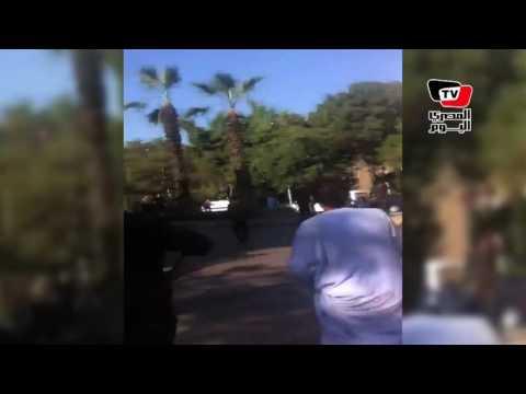 اللقطات الأولي من انفجار شارع الهرم