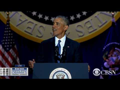 Download WATCH LIVE: President Obama delivers his farewell address HD Mp4 3GP Video and MP3