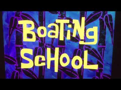 Reading SpongeBob: Boating School transcript