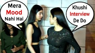 Video Khushi Kapoor Throws Tantrum When Asked For Interview At Dhadak Success Party MP3, 3GP, MP4, WEBM, AVI, FLV September 2018