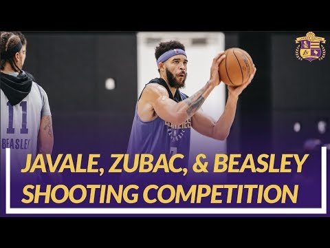 Video: Lakers Nation Practice: JaVale McGee, Ivica Zubac, and Michael Beasley Shooting Competition