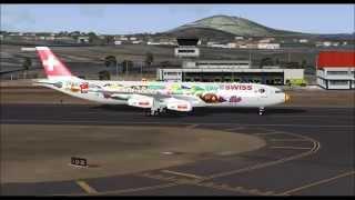 Descrição:- AIRBUS A340 313X SWISS AIRLINES TAKE OFF FROM PONTA DELGADA.