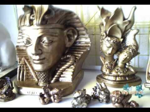 Artesanato - Magia em Arte - Gesso Resinado imitando bronze - PARTE II