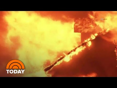 California Residents Rescued As Wildfires Scorch The State | TODAY