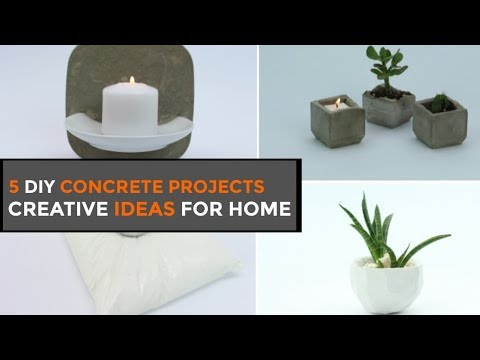 5 DIY Concrete Projects For Your Home