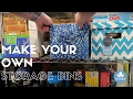 How to Make Storage Bins - Any Color, Any Size
