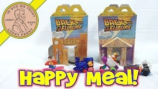 McDonald's Retro Happy Meal Series - Back To The Future, 1991 Toys And Boxes