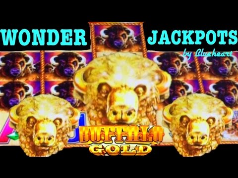 BUFFALO GOLD slot machine PROGRESSIVE JACKPOT and HUGE BONUS WIN! (WONDER 4 JACKPOTS)