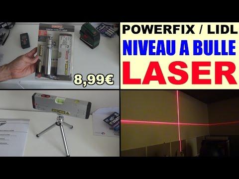 niveau à bulle laser powerfix lidl - waterpas wasserwaage