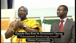 Ghana Community receives Education Awakening Prize