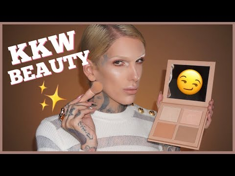 KIM K DRAMA?! KKW POWDER CONTOUR & HIGHLIGHT KIT REVIEW | Jeffree Star