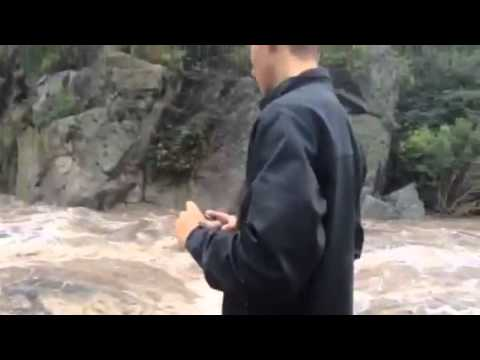 El río San Miguel una de las cuencas. Tremendo video en la cuenca( gentileza Cachi)