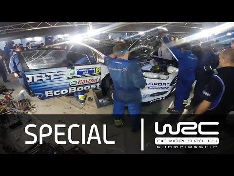 Vídeo reparación Ford Fiesta Ott Tänak tras hundimiento del vehículo en un lago WRC Rallye México 2015