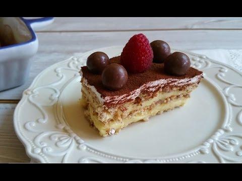 mattonella di biscotti - torta fredda senza cottura