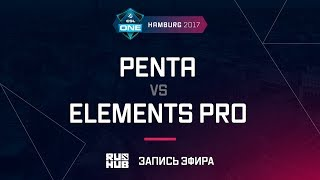 Penta vs Elements Pro, ESL One Hamburg 2017, game 1 [Maelstorm, Inmate]