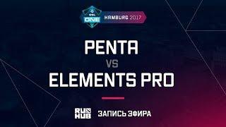 Penta vs Elements Pro, ESL One Hamburg 2017, game 1 [Maelstorm, Inmate]