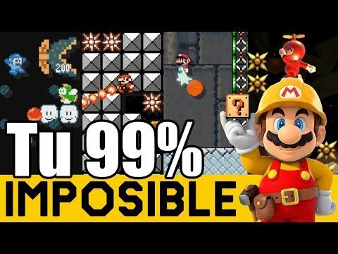 COSAS MUY LOCAS PASAN AQUÍ 😵 - 99% IMPOSIBLES de Suscriptores #26   Super Mario Maker - ZetaSSJ