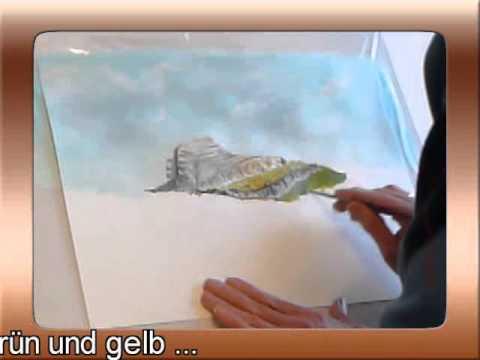 So wird´s gemacht. Malen einer Landschaft im Zeitraffer.