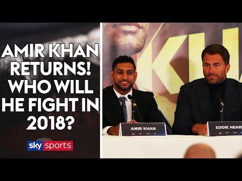 AMIR KHAN RETURNS! Full press conference & exclusive interviews with Amir & Eddie Hearn!