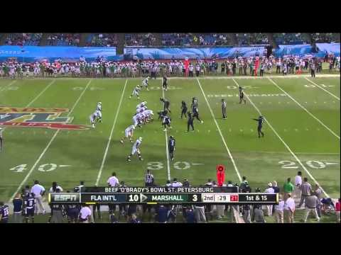 Rakeem Cao 31-yard touchdown pass vs Florida International 2011 video.