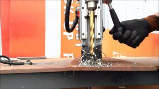 """We Review the Most Powerful Cordless Mag Base Drill on the market, the Milwaukee M18 Fuel (M18FMDP-0C) Mag Drill.This cordless power house has enough power to drill a 38mm (1-1/2"""") broach through 50mm (2"""") Plate.It also can be used as a drill press with its quick release FIXTEC 1/2"""" Keyed Chuck. To use Twist drills as well."""