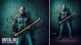 """In this tutorial I will show you how to create a photo manipulation effect of """"The Last Cyborg"""" in Adobe Photoshop CC 2017. Enjoy and thanks for watching!More Photoshop Tutorials: http://www.youtube.com/c/MirRom14Tutorial Resources:Texture by Gresskar: http://www.deviantart.com/art/Texture02-659796289Stone Flooring by annamae22: http://annamae22.deviantart.com/art/Stone-Flooring-Stock-Photo-DSC-0069-PNG-489032345Model: https://pixabay.com/en/man-model-male-full-body-2077212/Abstract : https://pixabay.com/en/abstract-backdrop-background-blue-1850416/Metal Skull by SweetSoulSister: http://sweetsoulsister.deviantart.com/art/Metal-Skull-Gun-Man-244856070Brushes :Wg Soaked Stains : http://wegraphics.net/downloads/soaked-stains-photoshop-brush-pack/Follow Us : Facebook : https://goo.gl/H5m598Google+ : https://goo.gl/PMkAPNWeb : http://goo.gl/E4vwh4Twitter : http://bit.ly/1RlY5QnMusic Credits:Decisions by Kevin MacLeod is licensed under a Creative Commons Attribution license (https://creativecommons.org/licenses/by/4.0/)Source: http://incompetech.com/music/royalty-free/index.html?isrc=USUAN1100756Artist: http://incompetech.com/"""